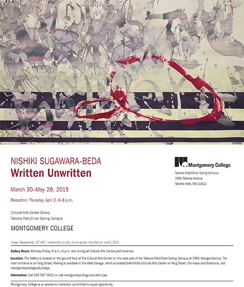 Written Unwritten announcement-nishiki-exhibition-title 72 500